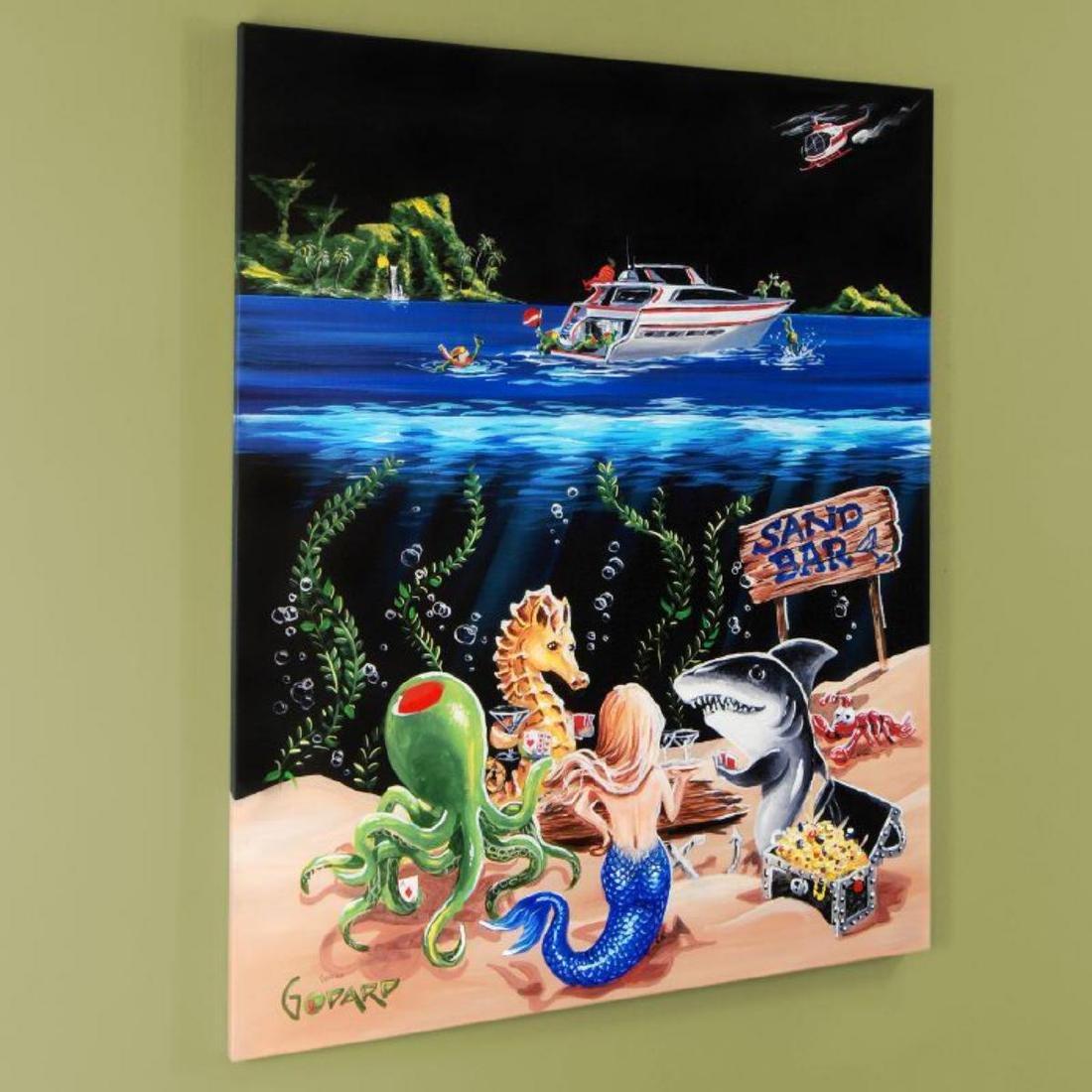 """Sand Bar 1"" Mural LIMITED EDITION Hand-Embellished - 3"