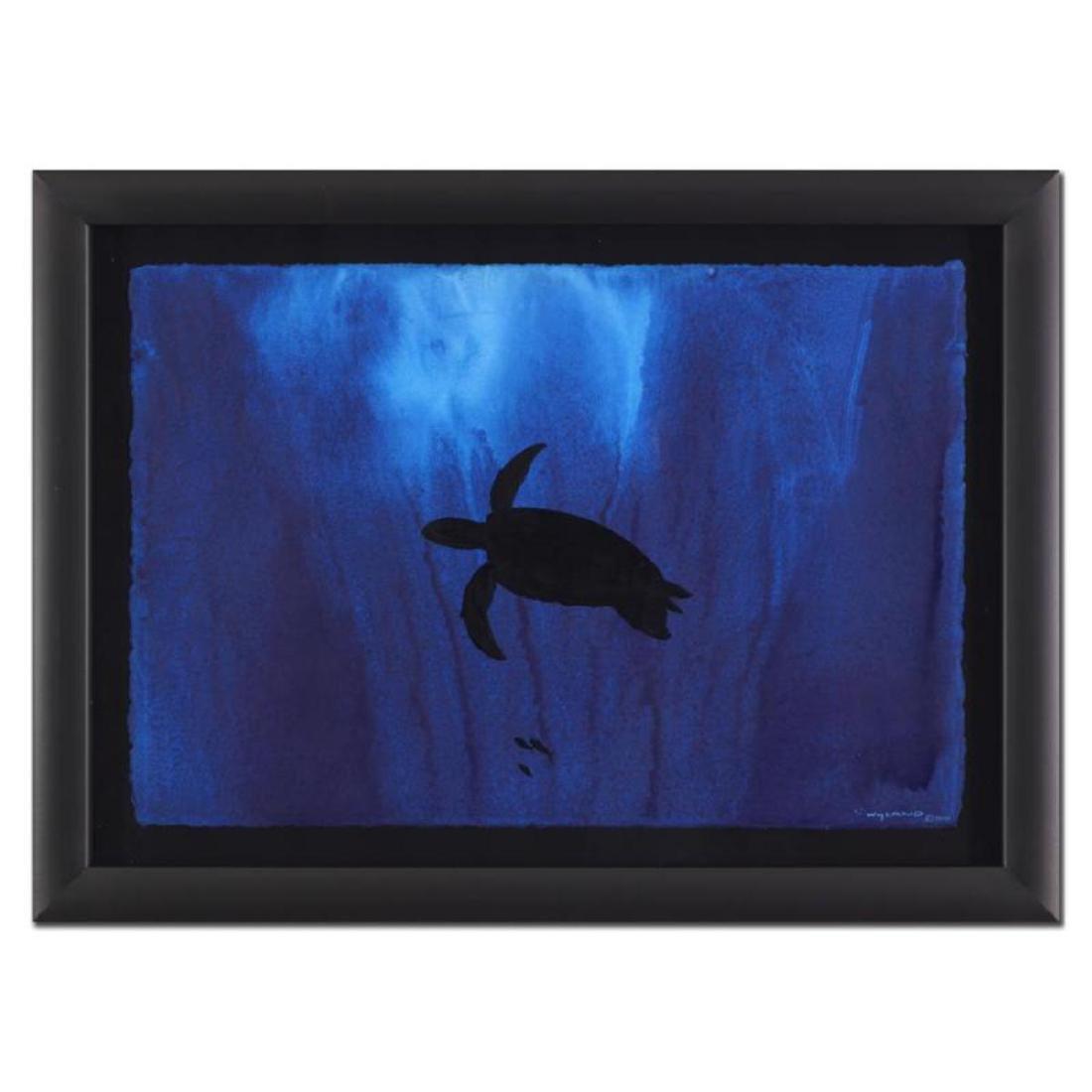 "Wyland - ""Turtle"" Framed Original Watercolor Painting,"