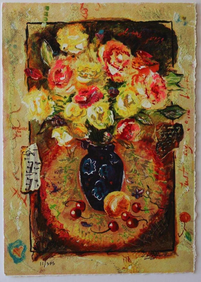 Sergey Kovrigo Silkscreen Serigraph Sunshine Roses