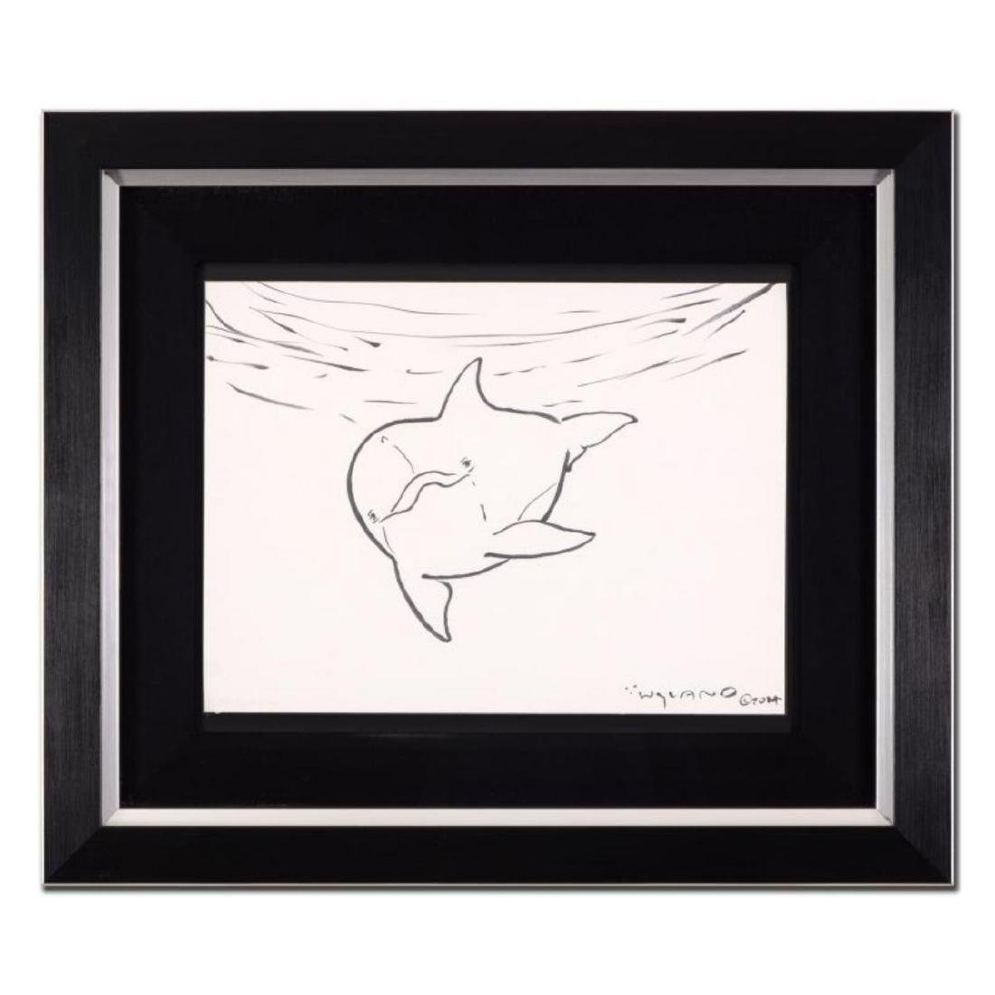 "Wyland - ""Dolphin"" Framed Original Sketch, Hand Signed"