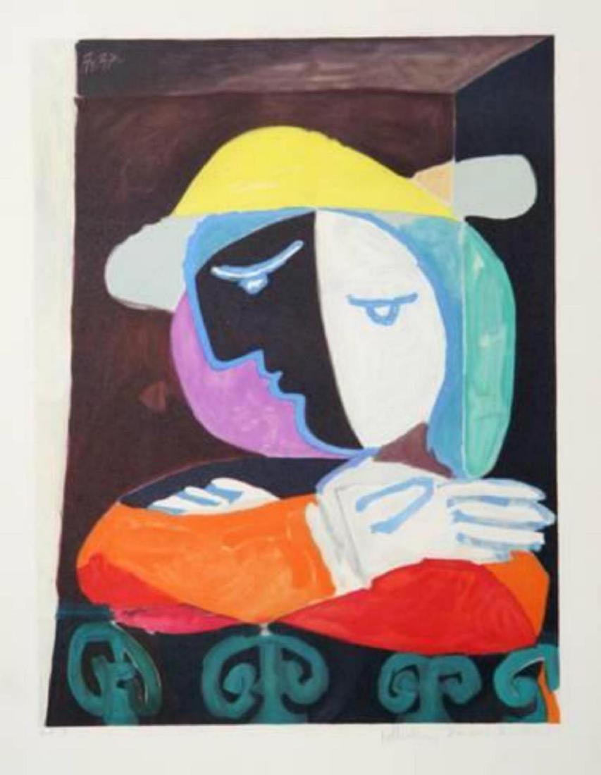 """Pablo Picasso """"Femme au Balcon, 18-A"""" Lithograph"""