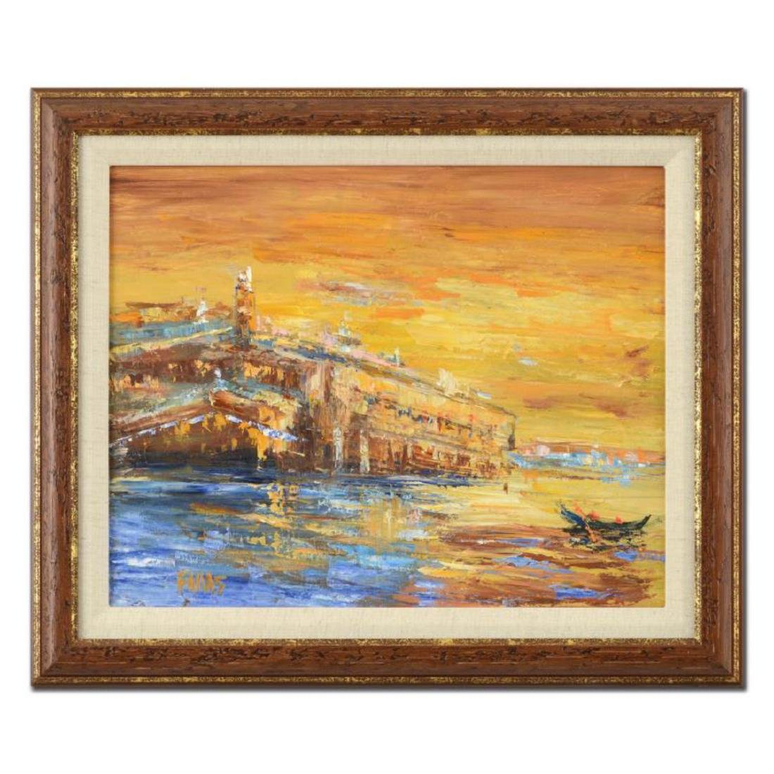 "Elliot Fallas - ""Cannes France"" Framed Original Oil"