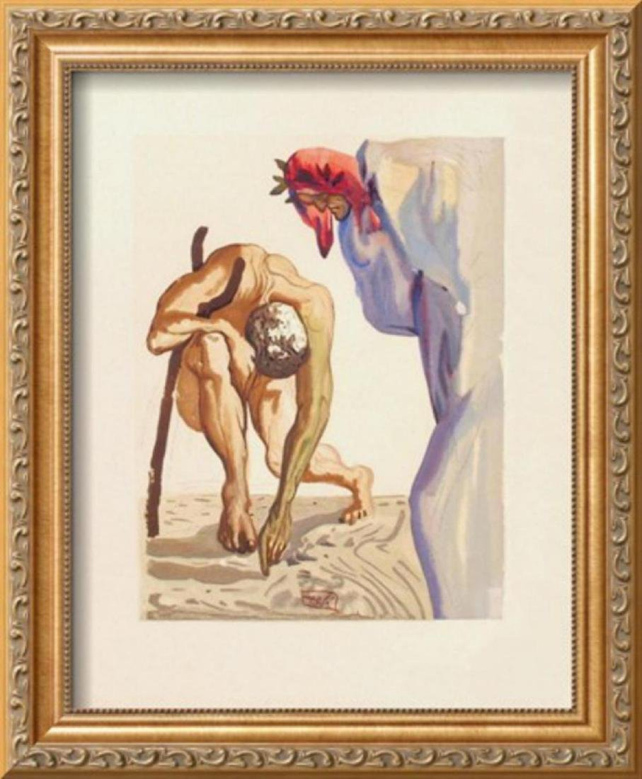 "Salvador Dali ""Divine Comedie, Purgatoire 07: Les"