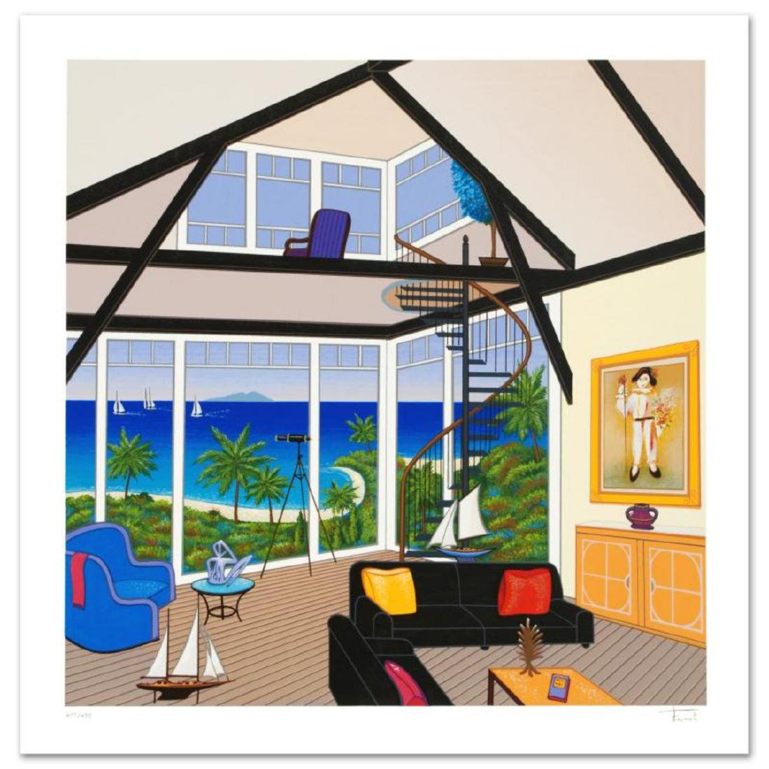 """Duplex Over Stinson"" Limited Edition Serigraph by"