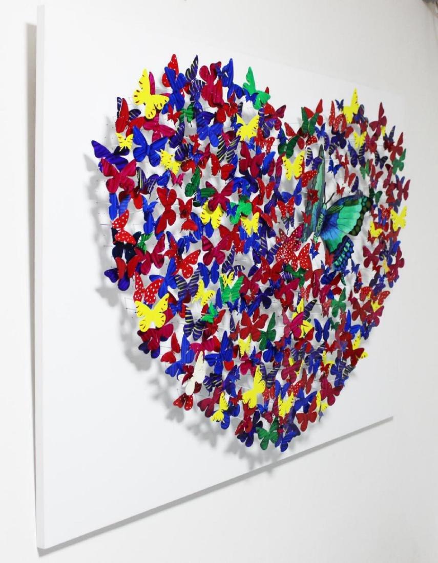 """Patricia Govezensky- XL Original 3D Metal Art """"Heart"""" - 2"""