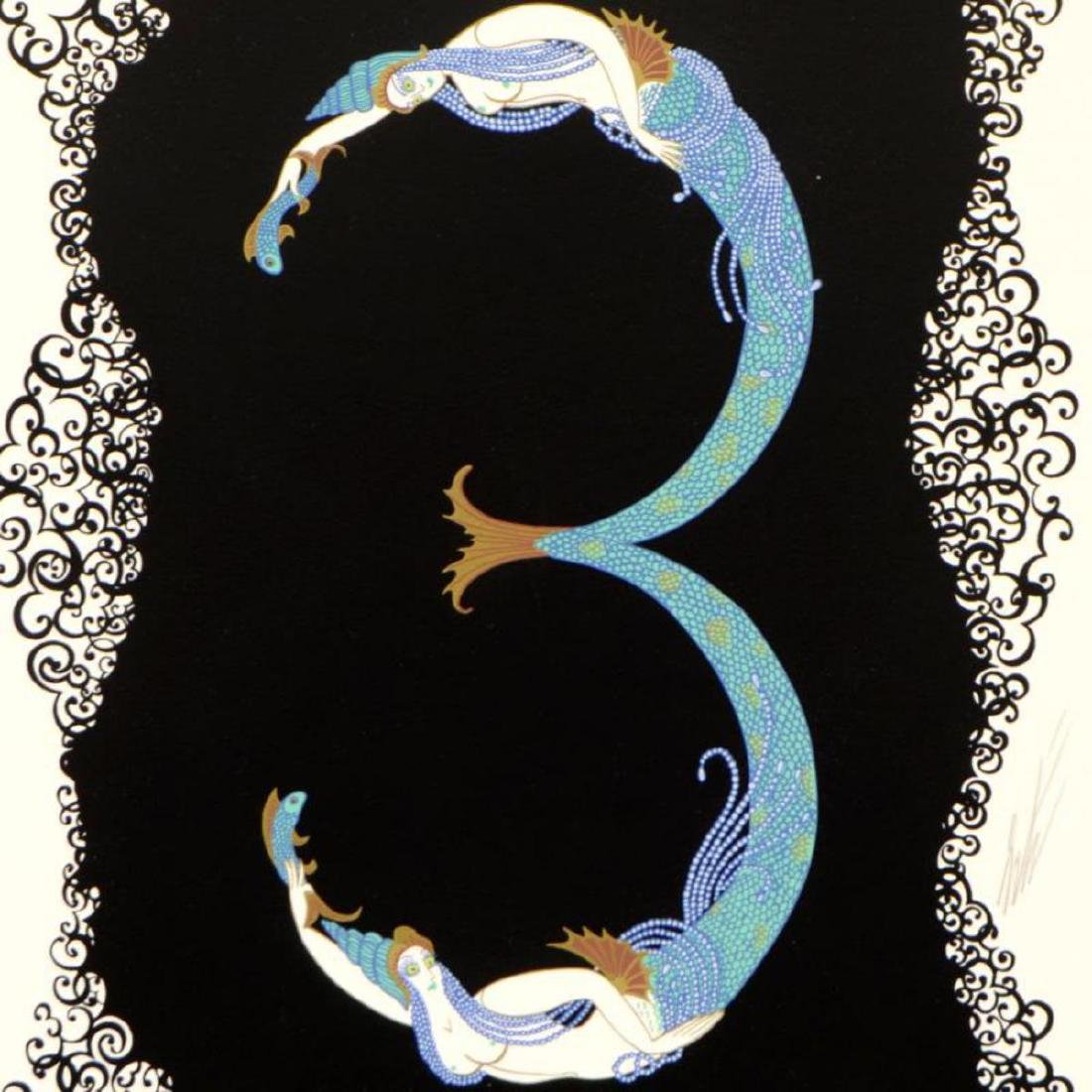 "Erte (1892-1990) - ""Numeral 3"" Limited Edition - 2"