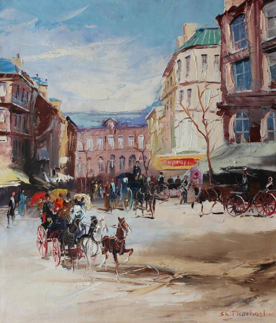 "Shalva Phachoshvili ""Horse-drawn Carriages"" Original"