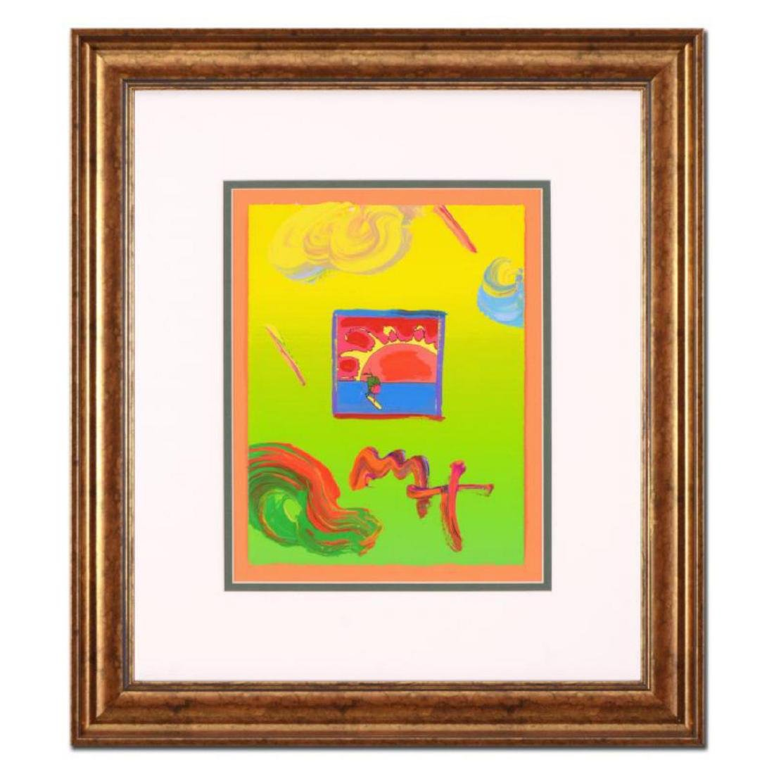 "Peter Max - ""Sunrise Sail"" Framed One-Of-A-Kind Acrylic"