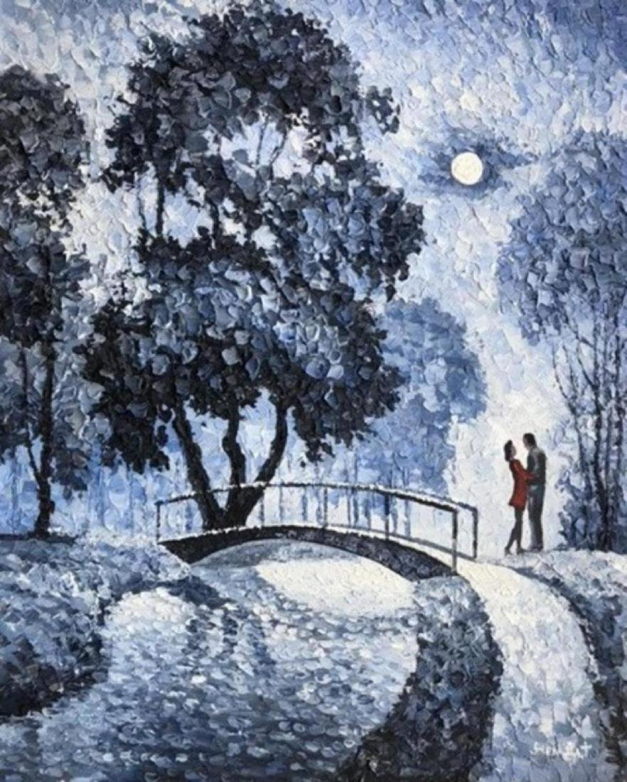 "Alexander Antanenka- ""Moonwalk"" Original Acrylic on"