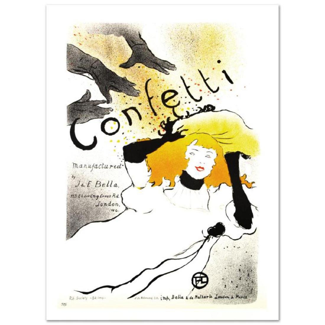 """""""Confetti"""" Hand Pulled Lithograph by the RE Society,"""