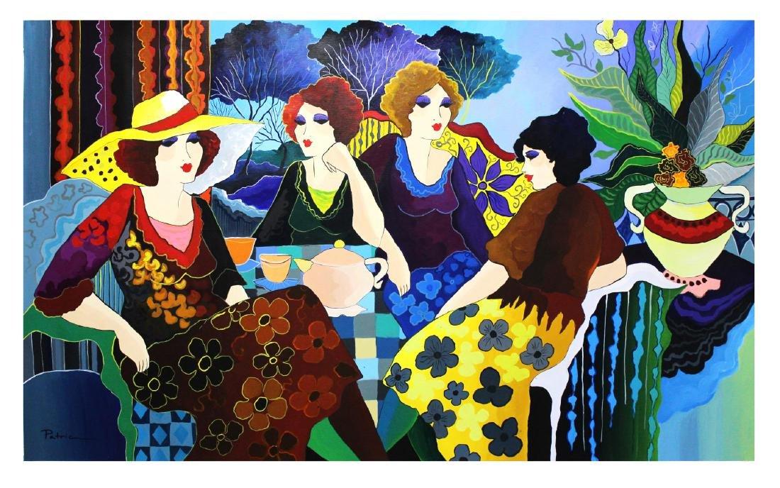 "Patricia Govezensky- Original Acrylic on Canvas ""Mon"