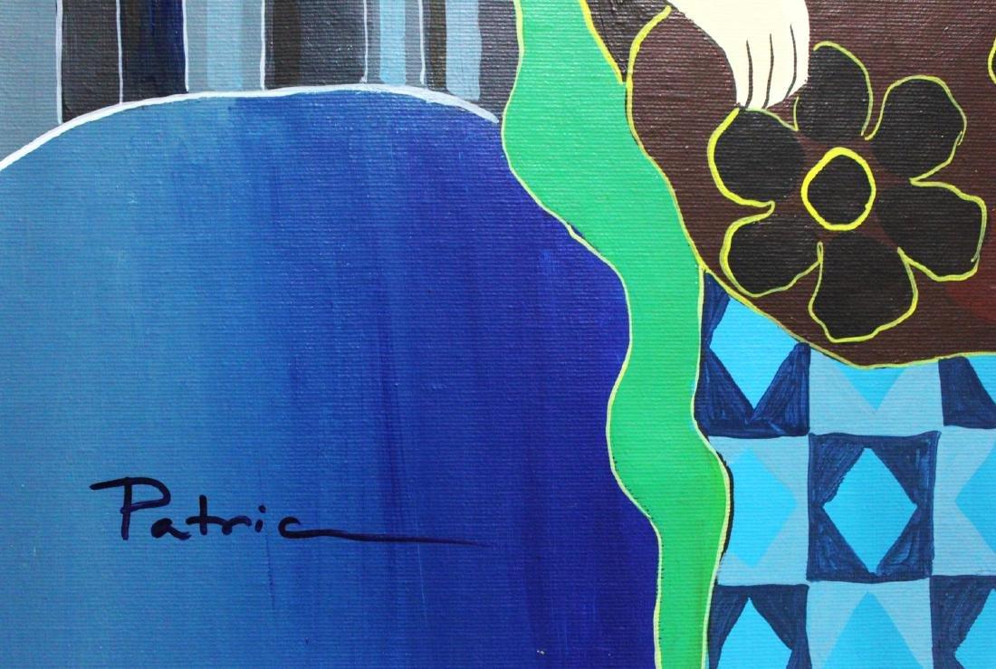 "Patricia Govezensky- Original Acrylic on Canvas ""Mon - 2"