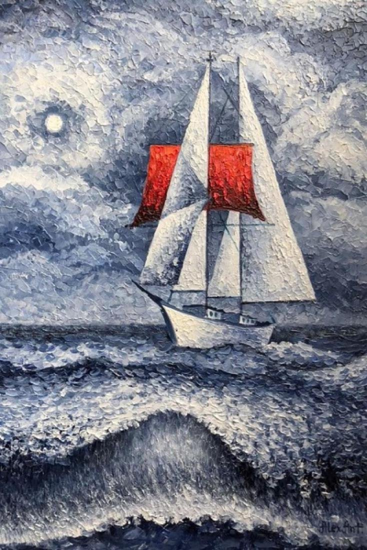 "Alexander Antanenka - ""Storm"" Original Oil Painting on"