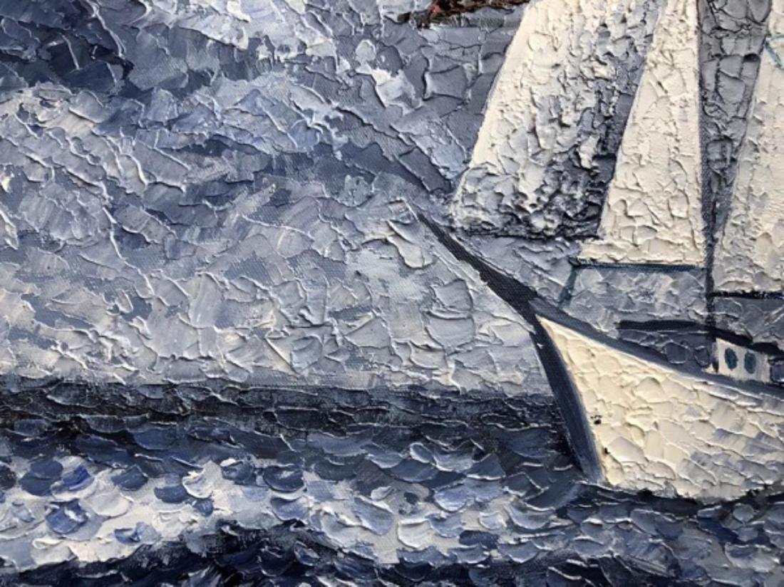 "Alexander Antanenka - ""Storm"" Original Oil Painting on - 2"
