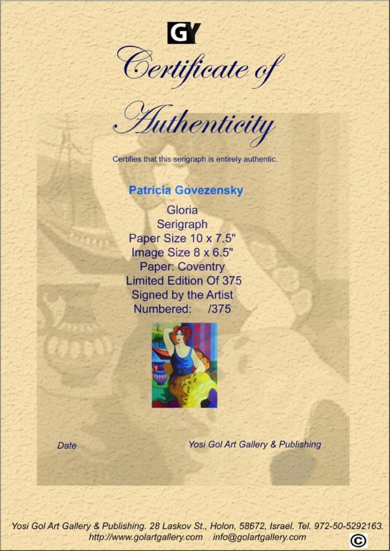 Patricia Govezensky Gloria Hand Signed & Numbered - 3