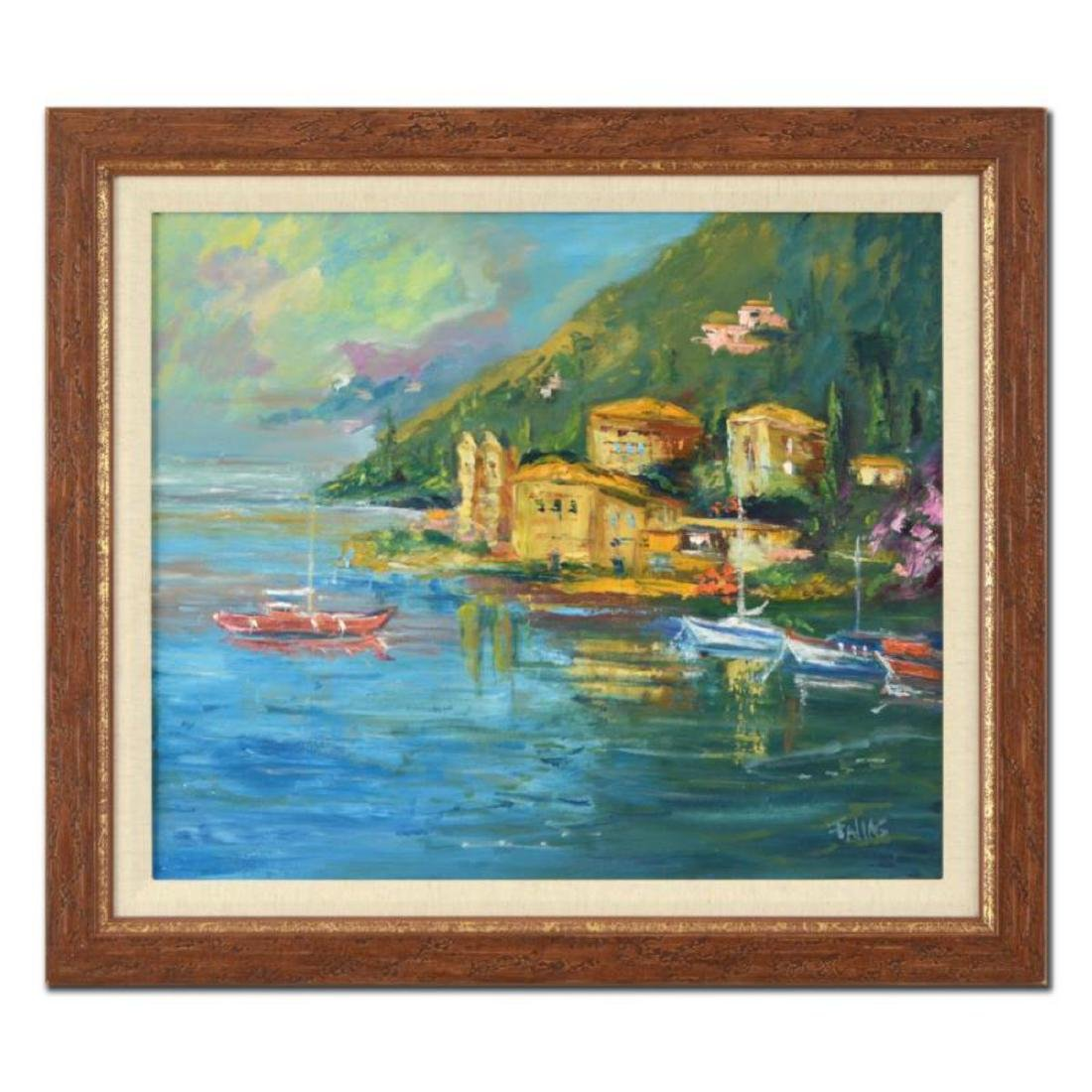 "Elliot Fallas - ""Lake Como"" Framed Original Oil"