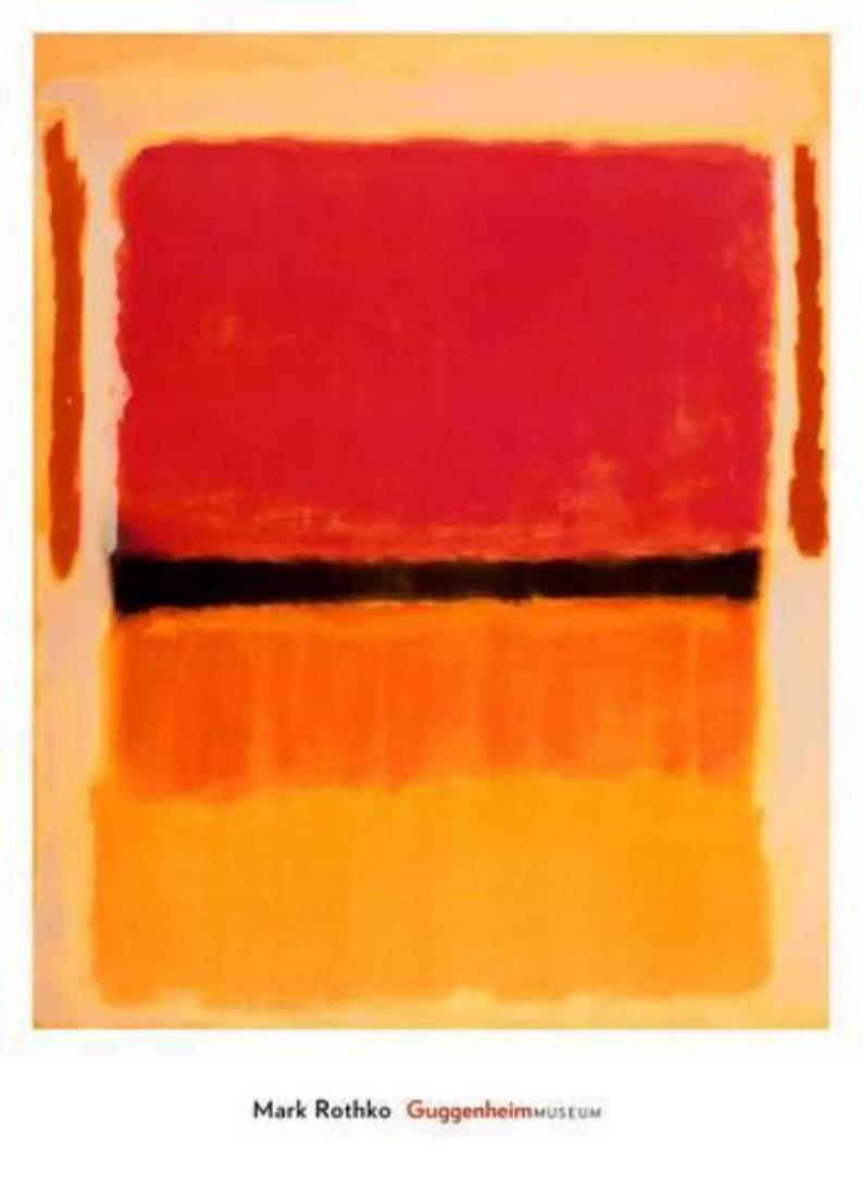"Mark Rothko ""Untitled (Violet, Black, Orange, Yellow on"