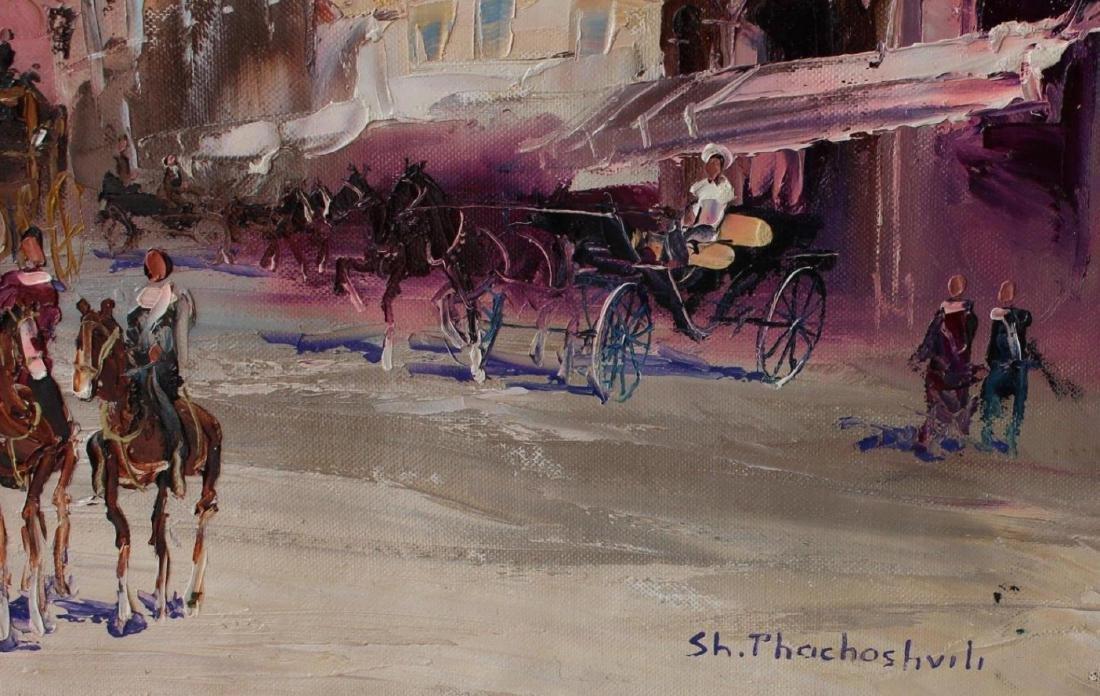 Shalva Phachoshvili Original Oil on Canvas- The Square - 2