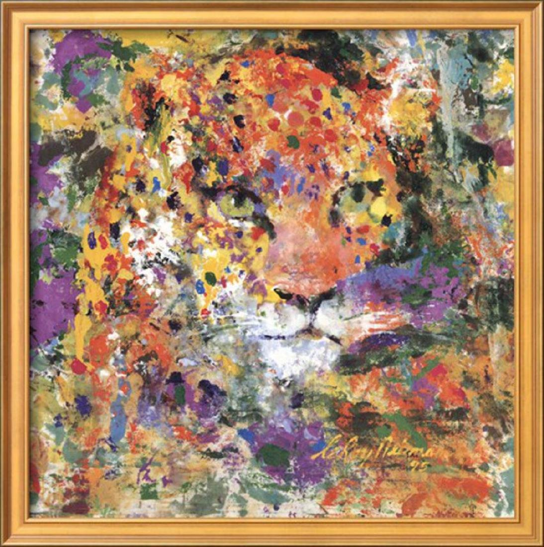 """LeRoy Neiman """"Leopard"""" Custom Framed"""