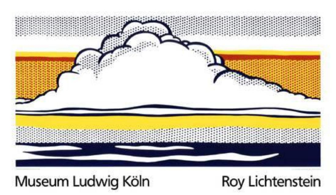 """Roy Lichtenstein """"Cloud and Sea, 1964"""" Serigraph"""