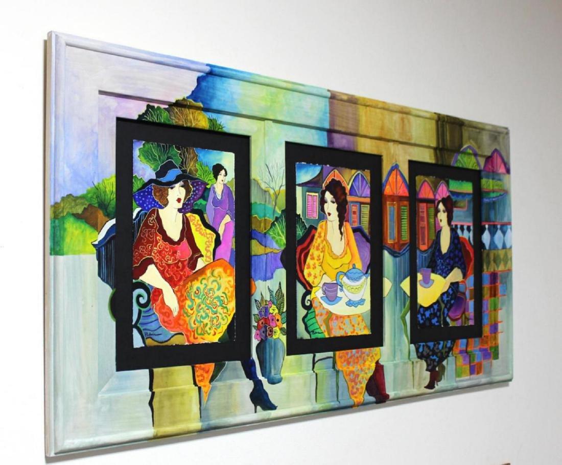 Patricia Govezensky Triplet Orig. Watercolor Painted - 2