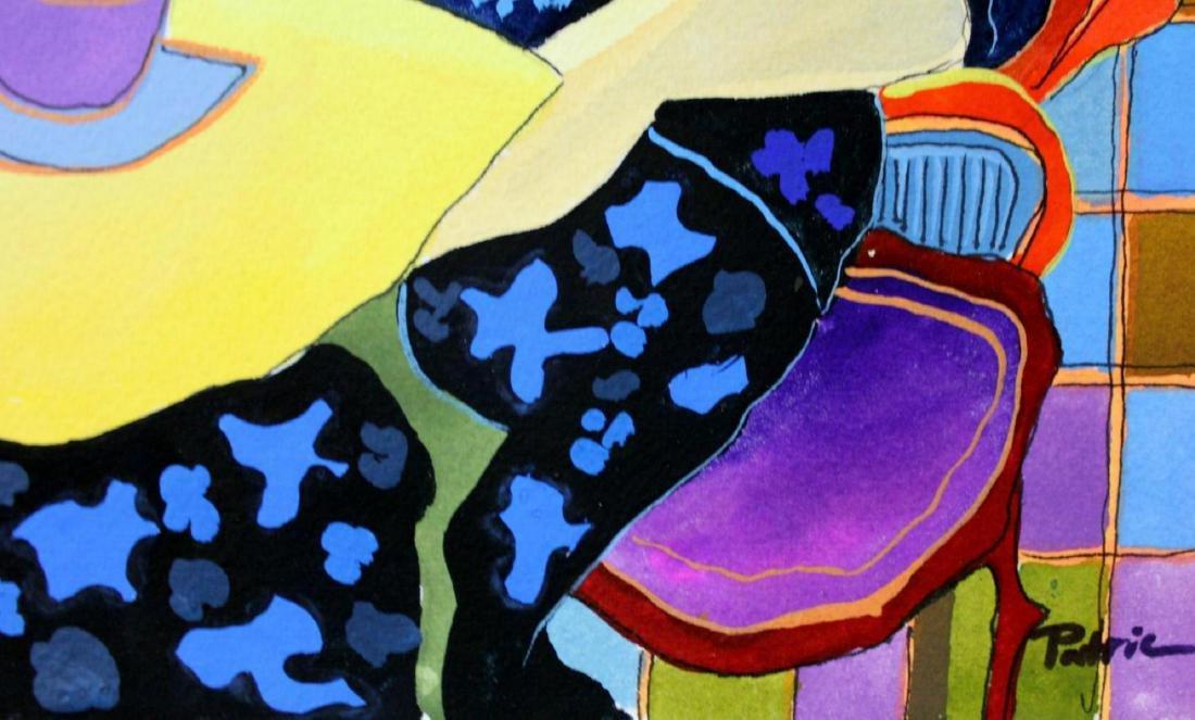 Patricia Govezensky Triplet Orig. Watercolor Painted - 3
