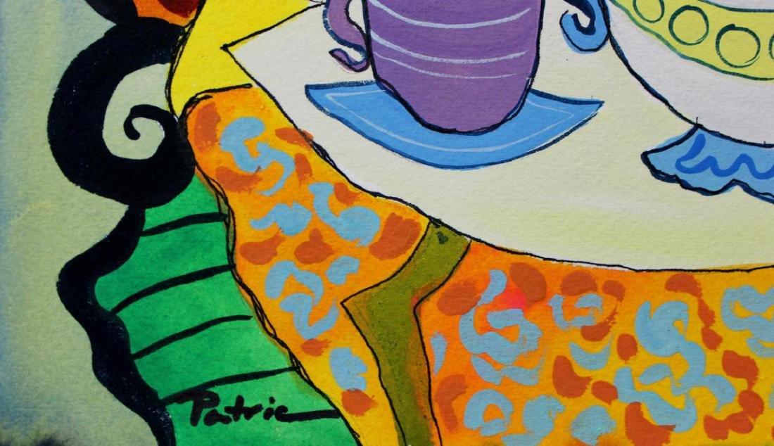 Patricia Govezensky Triplet Orig. Watercolor Painted - 4
