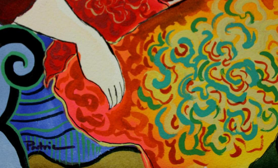 Patricia Govezensky Triplet Orig. Watercolor Painted - 5