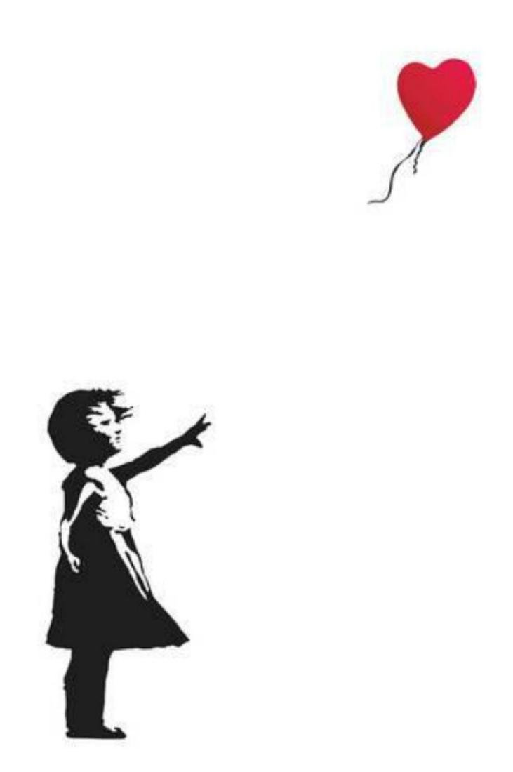 """Banksy """"Balloon Girl"""" 24x36 in. Offset Lithograph"""