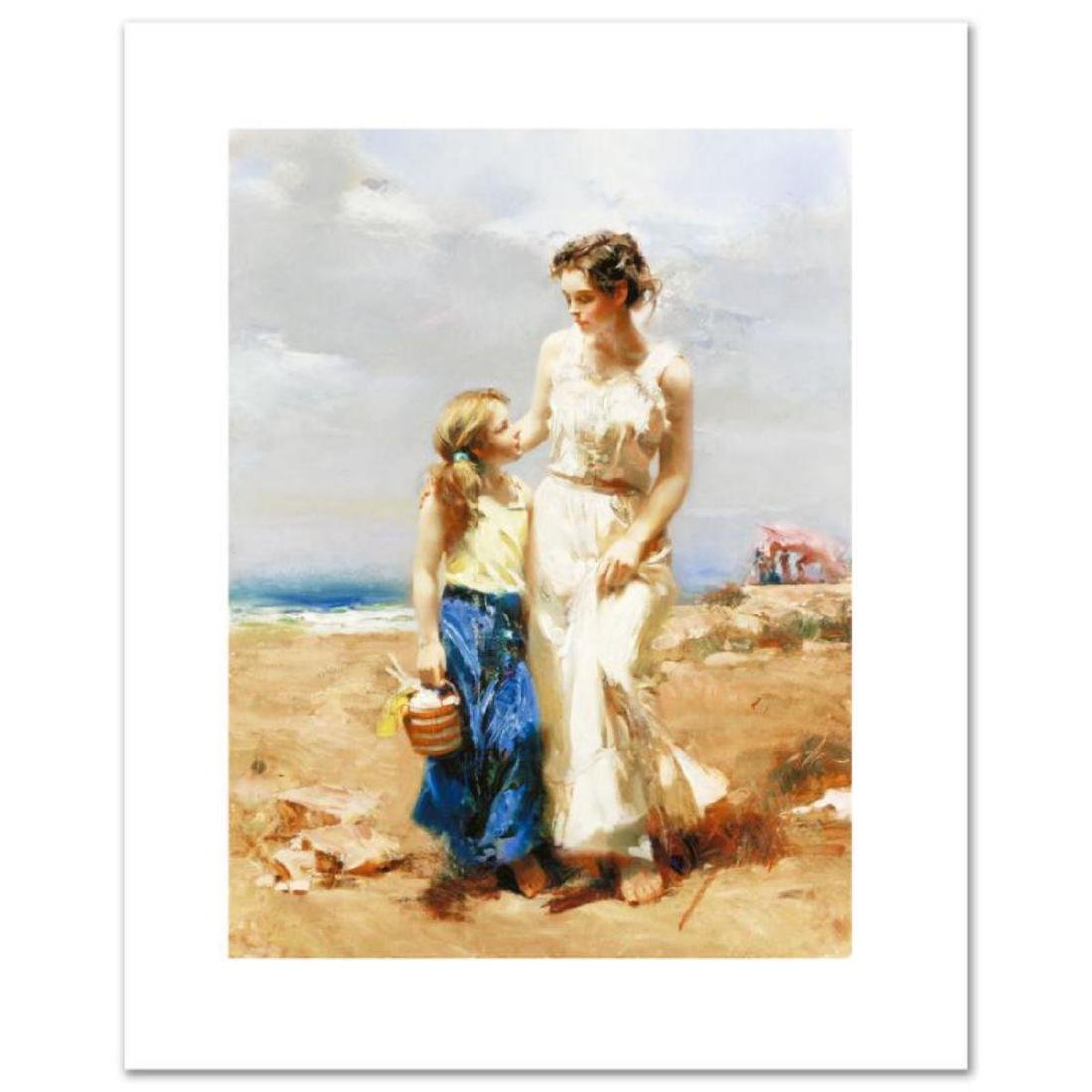 """""""By the Sea"""" LIMITED EDITION Artist-Embellished Giclee"""