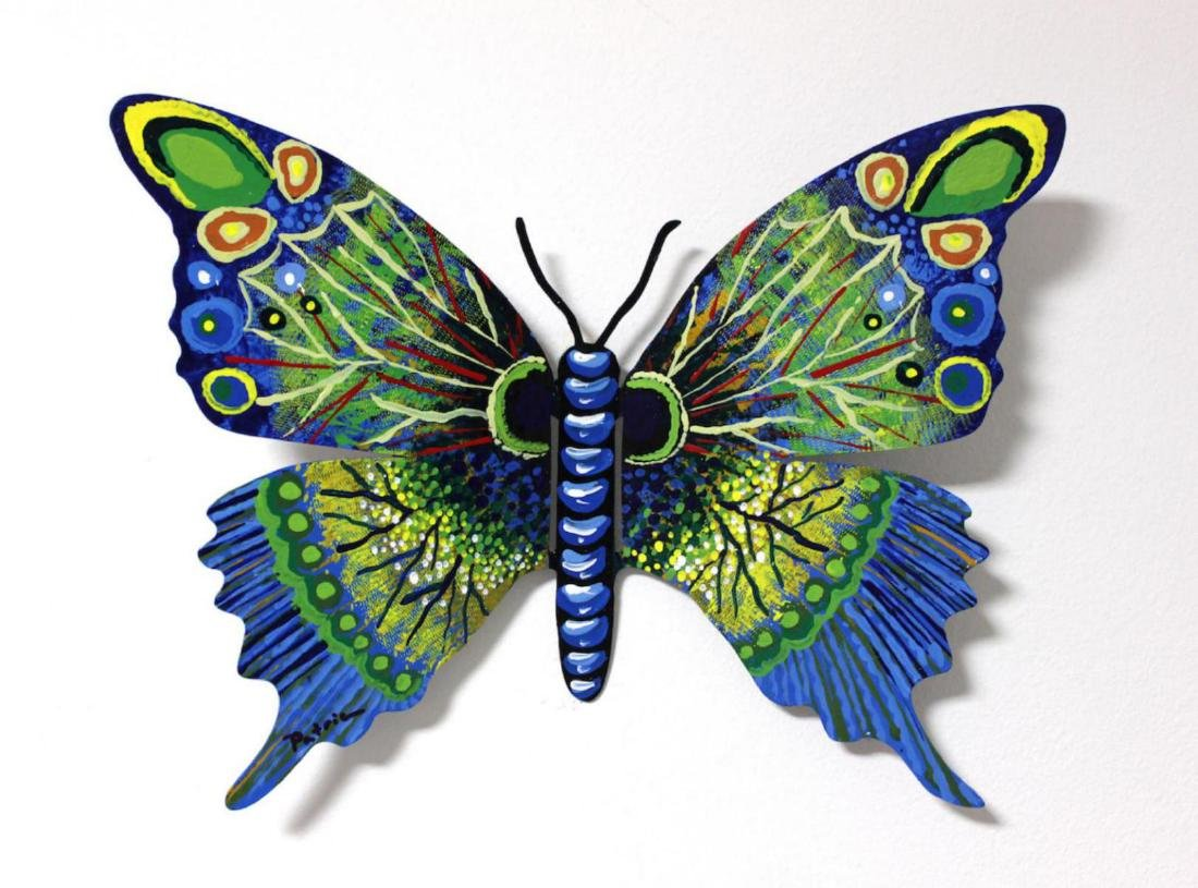 Patricia Govezensky Original Wall Butterfly 3D Metal