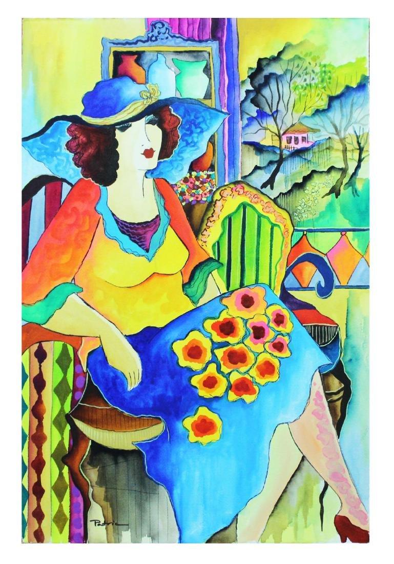 """Patricia Govezensky- Original Watercolor """"Emotional"""