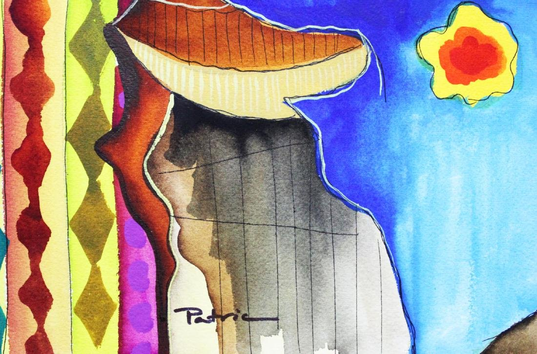 """Patricia Govezensky- Original Watercolor """"Emotional - 2"""
