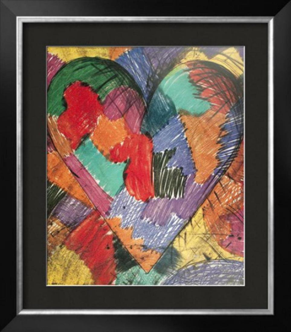 "Jim Dine ""Heart"" Custom Framed Lithograph Published in"