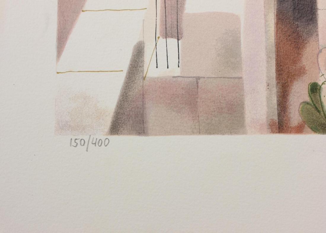 """Shmuel Katz- Serigraph on Paper """"Jerusalem - Triptych """" - 3"""
