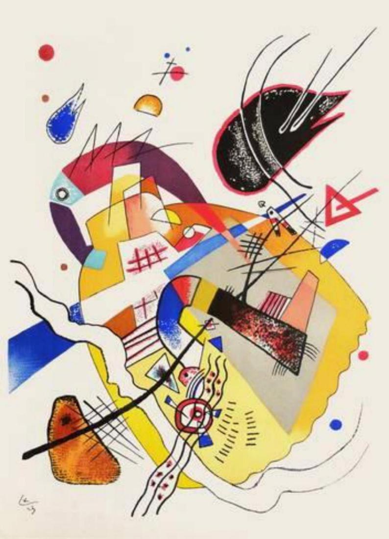 "Wassily Kandinsky ""Composition VII"" Original Lithograph"