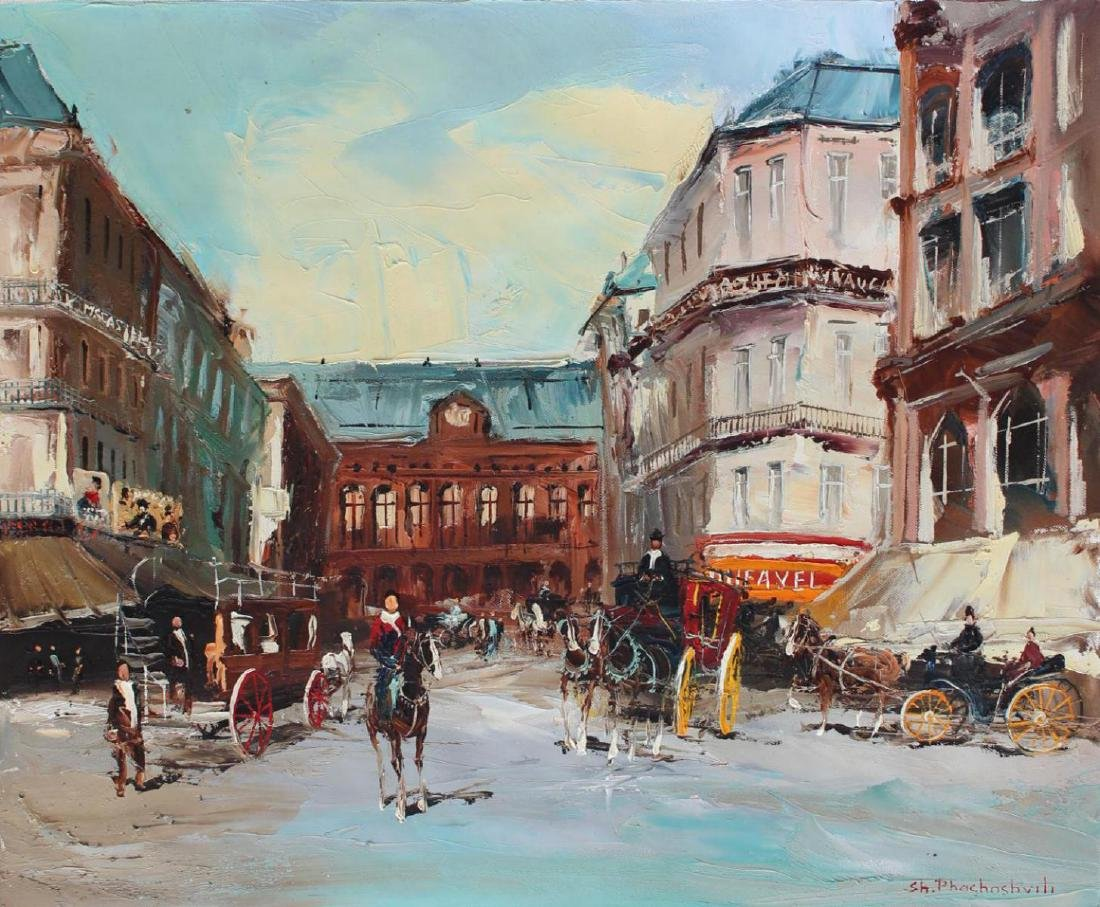Shalva Phachoshvili Royal Carriages ORIGINAL Oil on