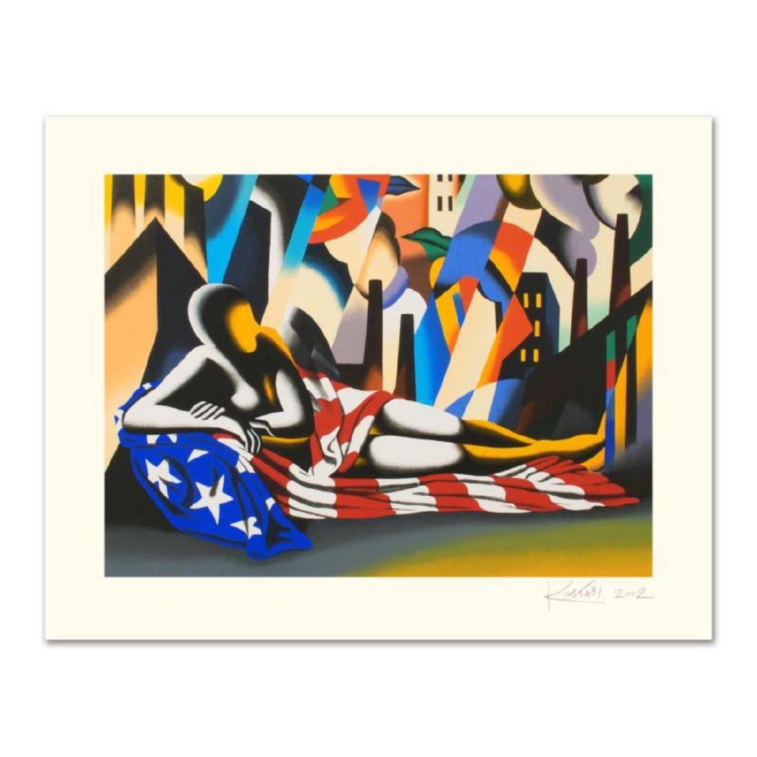 "Mark Kostabi - ""America"" Limited Edition Serigraph,"