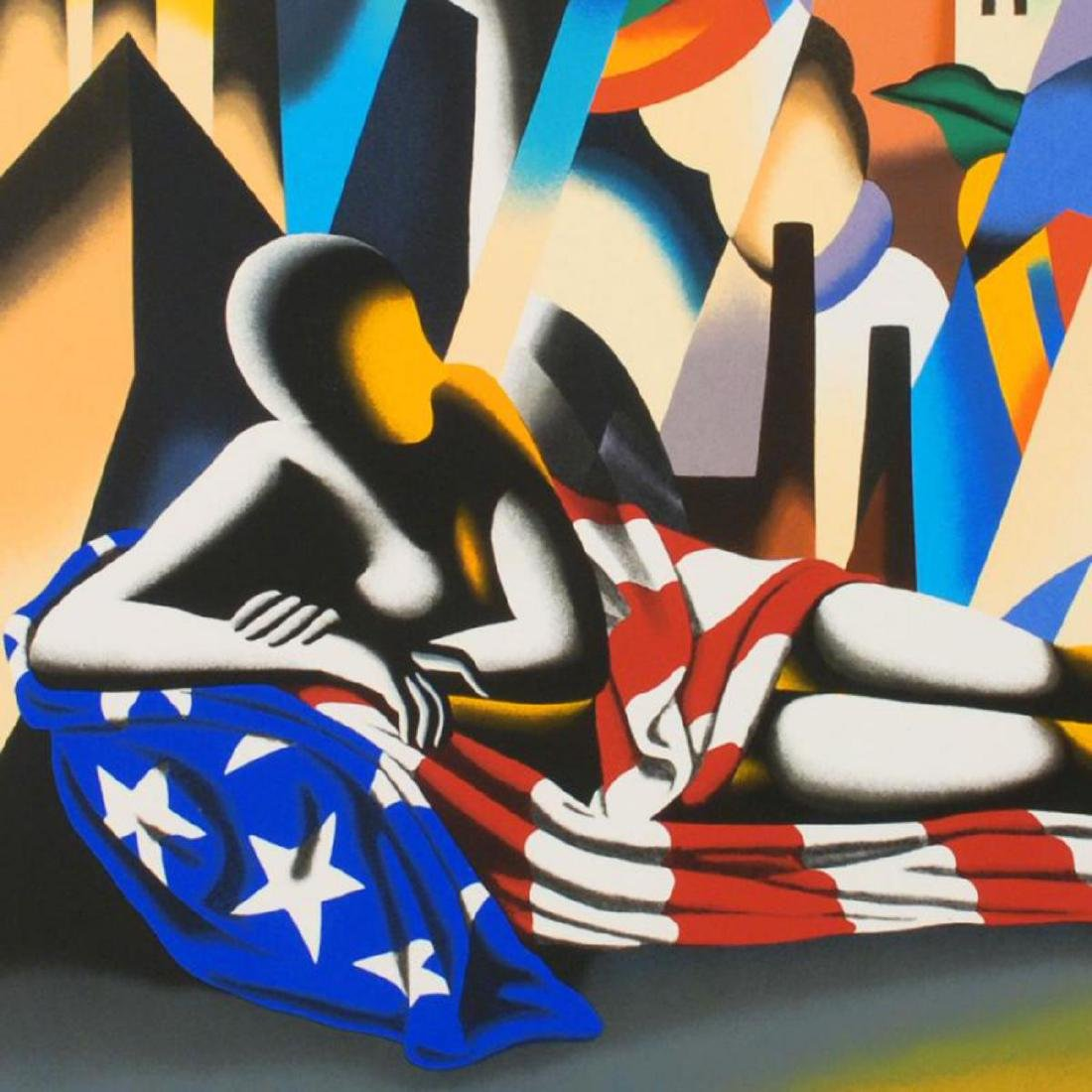 "Mark Kostabi - ""America"" Limited Edition Serigraph, - 2"