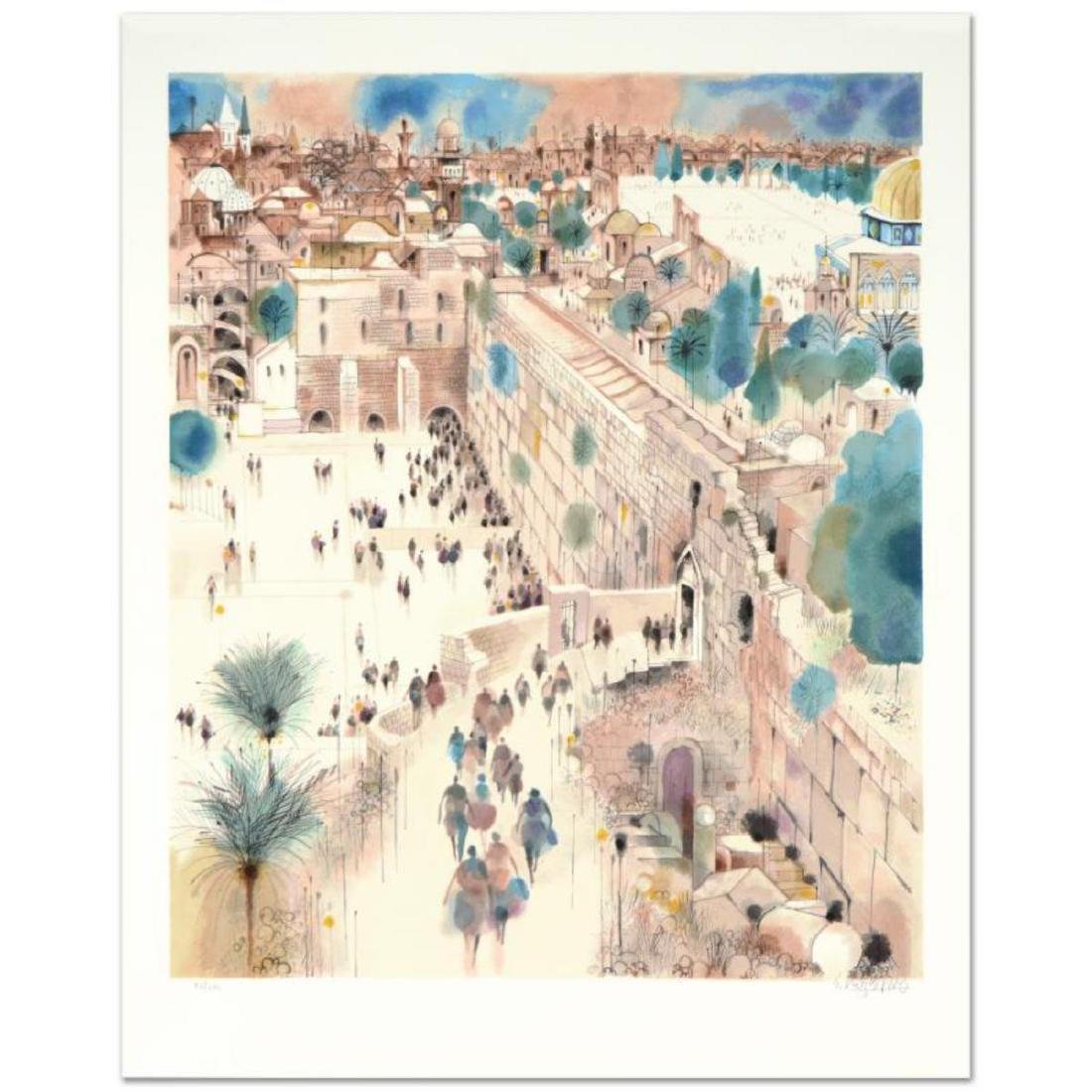 """""""The Wall, Right View"""" Limited Edition Serigraph by"""