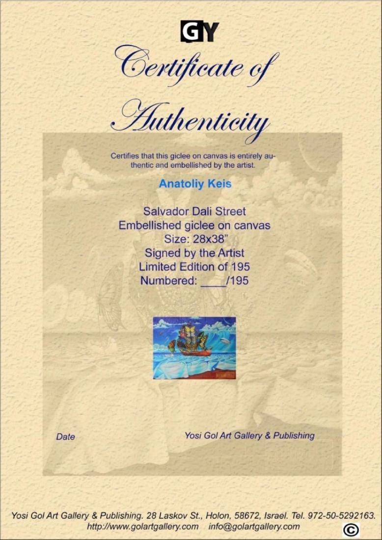Anatoliy Keis- Salvador Dali Street H. Emb. Giclee on - 3