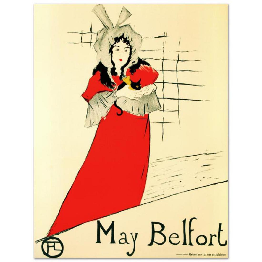 """May Belfort"" Hand Pulled Lithograph by the RE Society,"