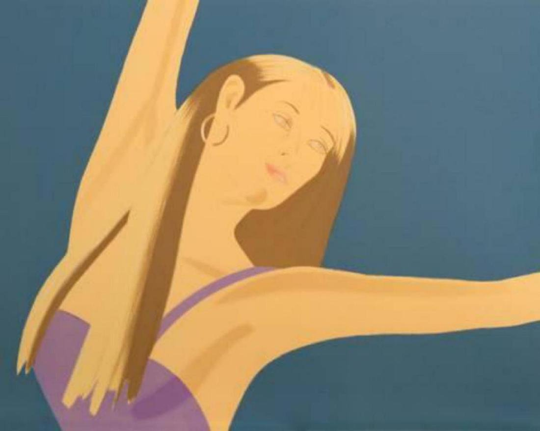 "Alex Katz ""Night: William Dunas Dance II"" Screenprint"
