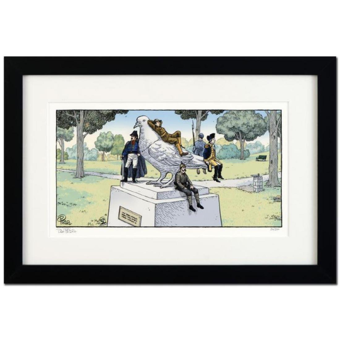 "Bizarro! ""Pigeon Statue"" is a Framed Limited Edition"