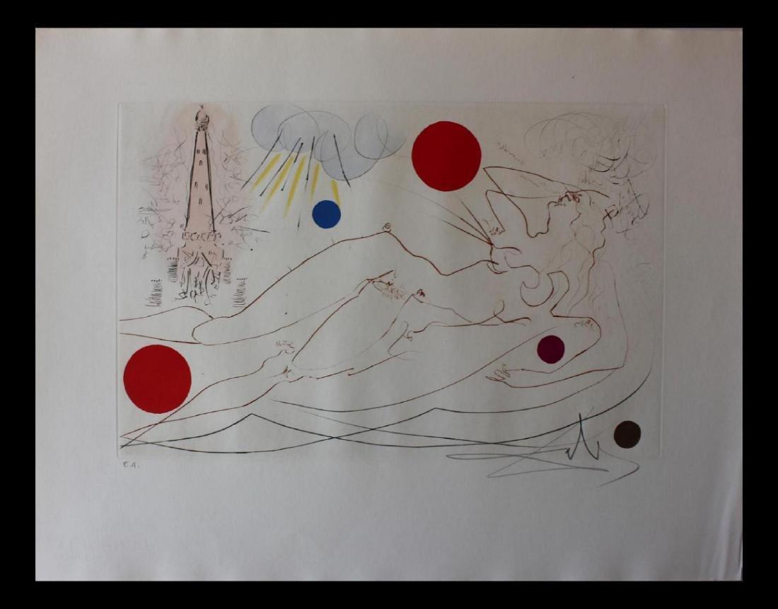 Salvador Dali Water Tower Original Etchings Visions of