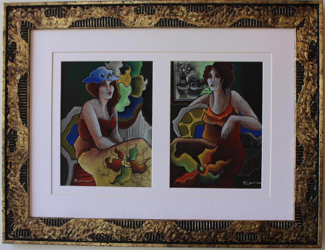 Patricia Govezensky Framed Original Triple Pastels on