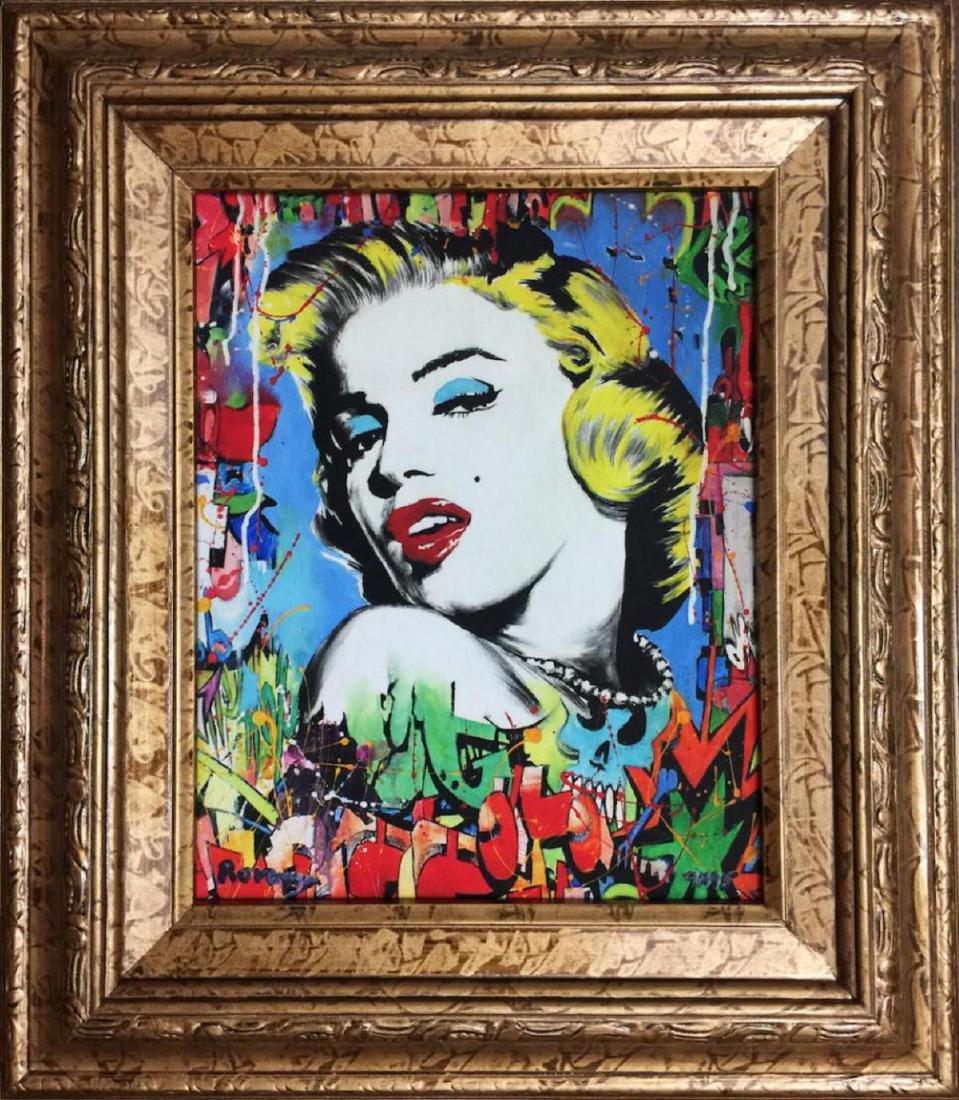 Nastya Rovenskaya Framed Marilyn Monroe HS/N Giclee on