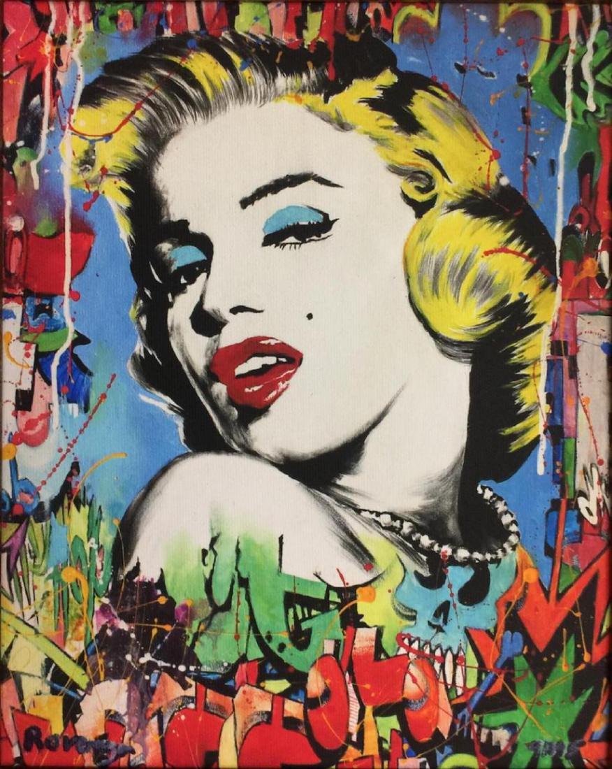 Nastya Rovenskaya Framed Marilyn Monroe HS/N Giclee on - 2