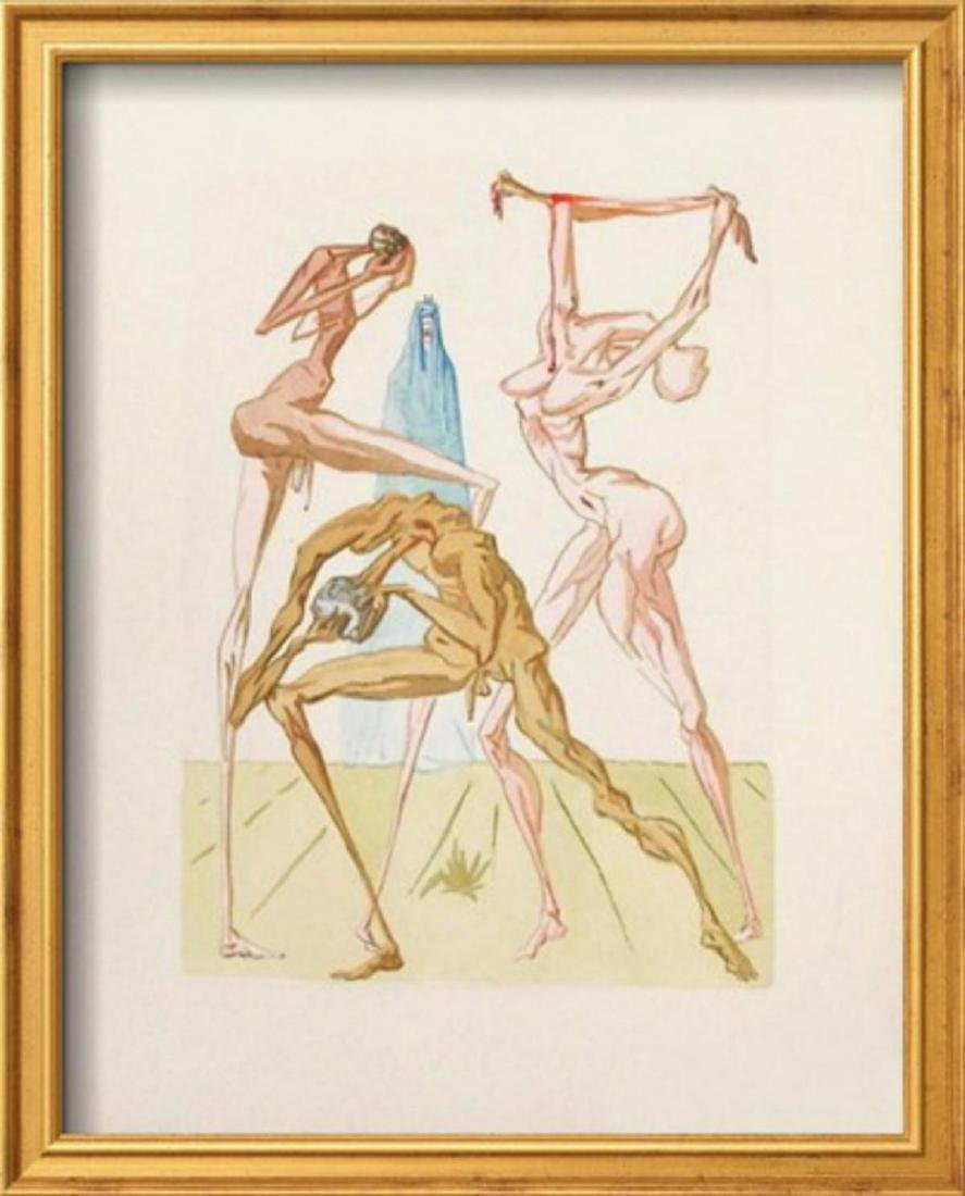 "Salvador Dali ""Divine Comedie, Enfer 26: Les habitants"