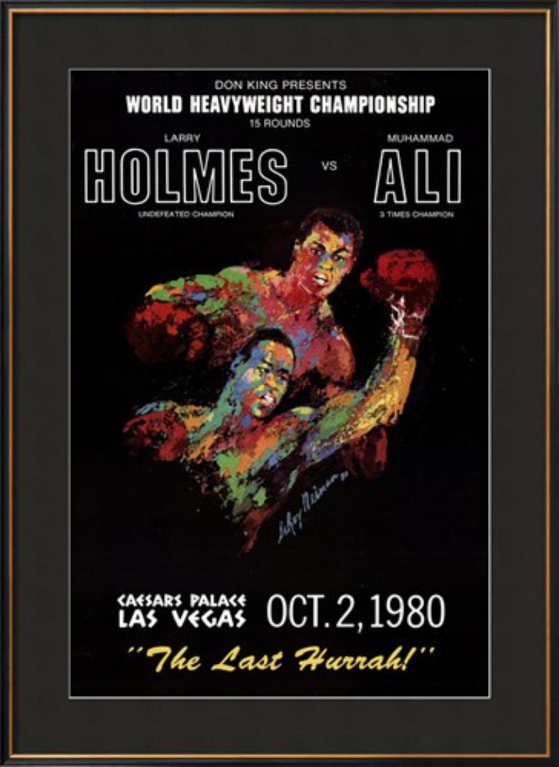 """LeRoy Neiman """"Holmes vs. Ali"""" Custom Framed"""